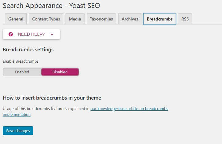 breadcrumb - bagaimana cara setting plugin seo by yoast