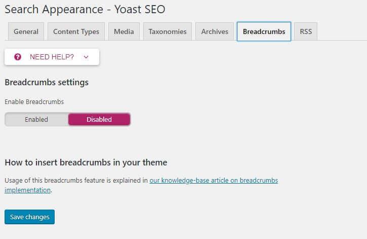 breadcrumb - bagaimana cara setting plugin seo by yoast