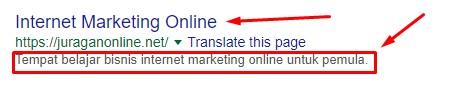 contoh pencarian - tutor seo yoast