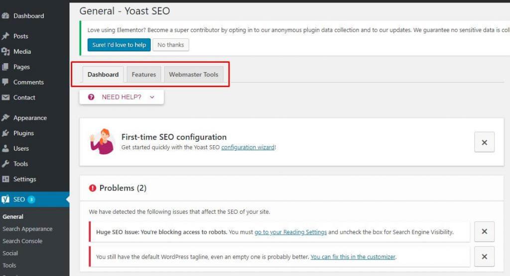 seo general - panduan setting plugin seo by yoast
