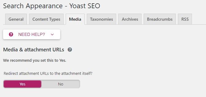 tab media plugin seo by yoast