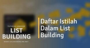 daftar istilah dalam list building