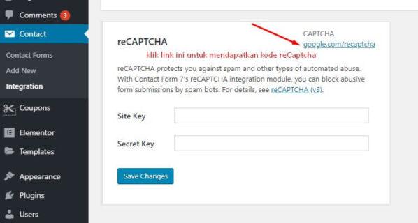 2 cara integrasikan contact form 7 dengan recaptcha google