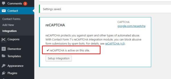 5 status contact form 7 telah aktifkan recapcthca