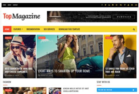 topmagazine template