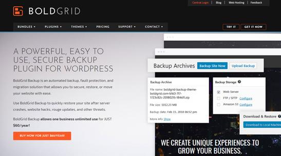 boldgrid plugin terbaik untuk backup wordpress