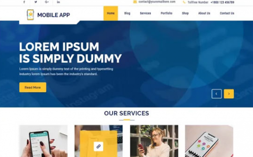 multi mobile app wordpress theme
