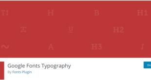 plugin google font typography