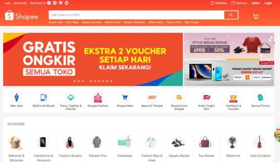 11 toko online terbaik - shopee