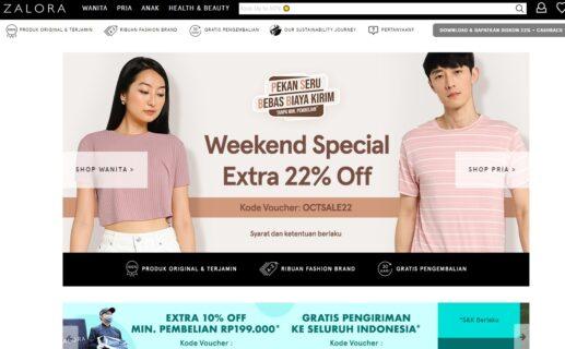 11 toko online terbaik - zalora