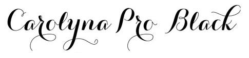 Jenis font cocok untuk desain undangan pernikahan - Carolyna Pro Black