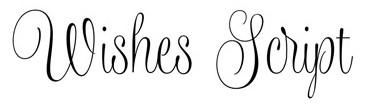 Jenis font cocok untuk desain undangan pernikahan - Wishes Script
